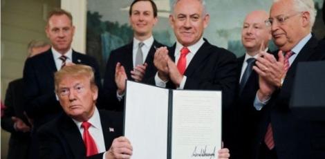 ټرمپ پر جولان د اسراییل حاکمیت په رسمیت وپېژاند